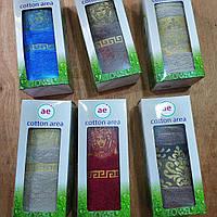 Подарочный набор махровых полотенец , Турция, 1 шт 50х90