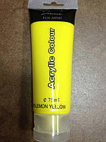 Ярко желтая акриловая краска на силиконовой основе для китайской росписи
