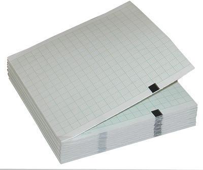 Термобумага для ЭКГ 210 мм на 195 мм на 150 листов на кардиограф General Electric Mac 1200, Hellige Cardiosmar