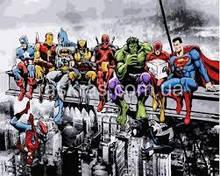 Картина по номерам герои