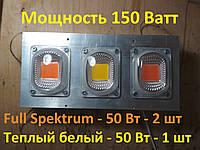 Фитолампа 150 Вт с линзами для роста растений, мультиспектр 400-840nm