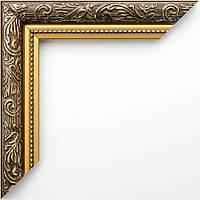 Фоторамка 13х18 30 мм коричневая с золотом