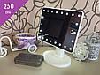 Зеркало косметическое с LED-подсветкой Magic (белое) 22 диода, фото 4