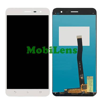 Asus ZE552KL, ZenFone 3, Z012S, Z012DE Дисплей+тачскрин(модуль) белый, фото 2