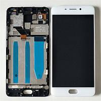 Дисплей для Meizu M6 Note (M721H) + touchscreen, белый, с передней панелью Высокое качество