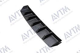 Диффузор накладки на задний бампер Skoda Octavia A7 (2013-) заднего бампера Шкода