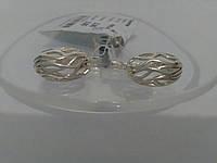 Красивые серебряные серьги без камней Джуди