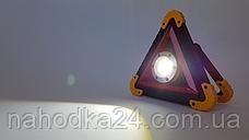 Аварийный знак металл Hurry bolt COB + LED фонарь и свечение, фото 2