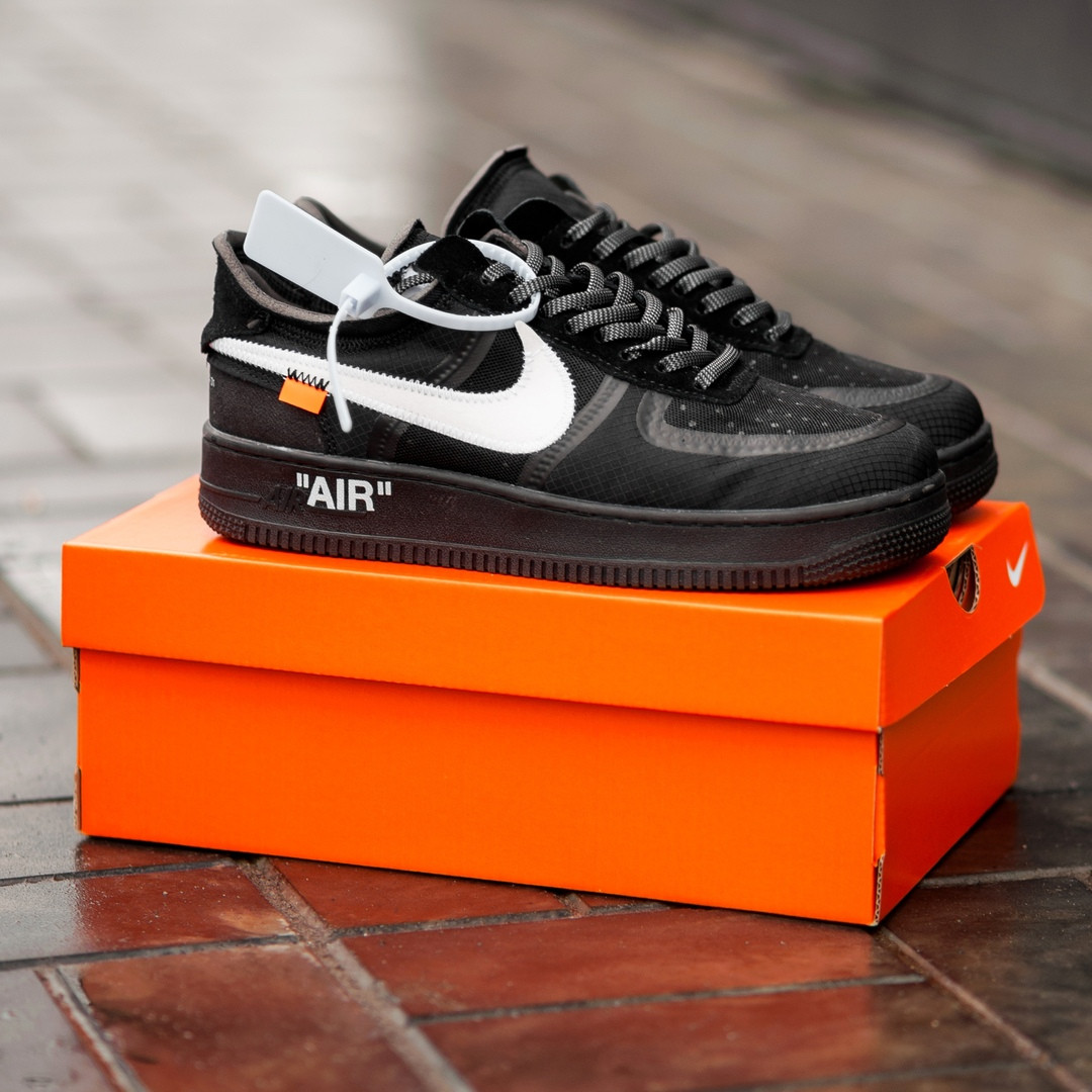 367e703e Мужские кроссовки Nike Air Force 1 Low White x OFF-WHITE black - Интернет-