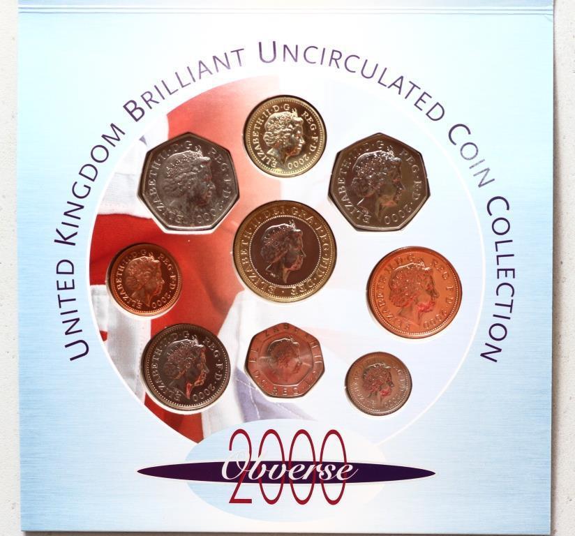 Копия Набор монет Великобритании 2000 г.