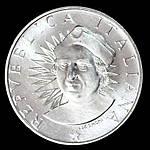 Серебряная монета Италии 500 лир 1991 г, фото 2