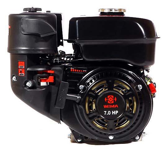Двигатель бензиновый WEIMA WM170F-T/20 New (7,0 л.с., шлиц Ø20мм, L=52мм) Бесплатная доставка