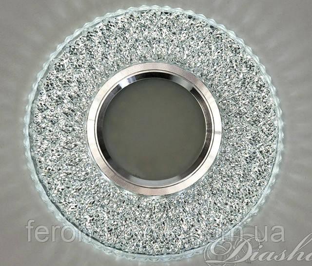 Світильник врізний з підсвічуванням круглий 7760 LED білий