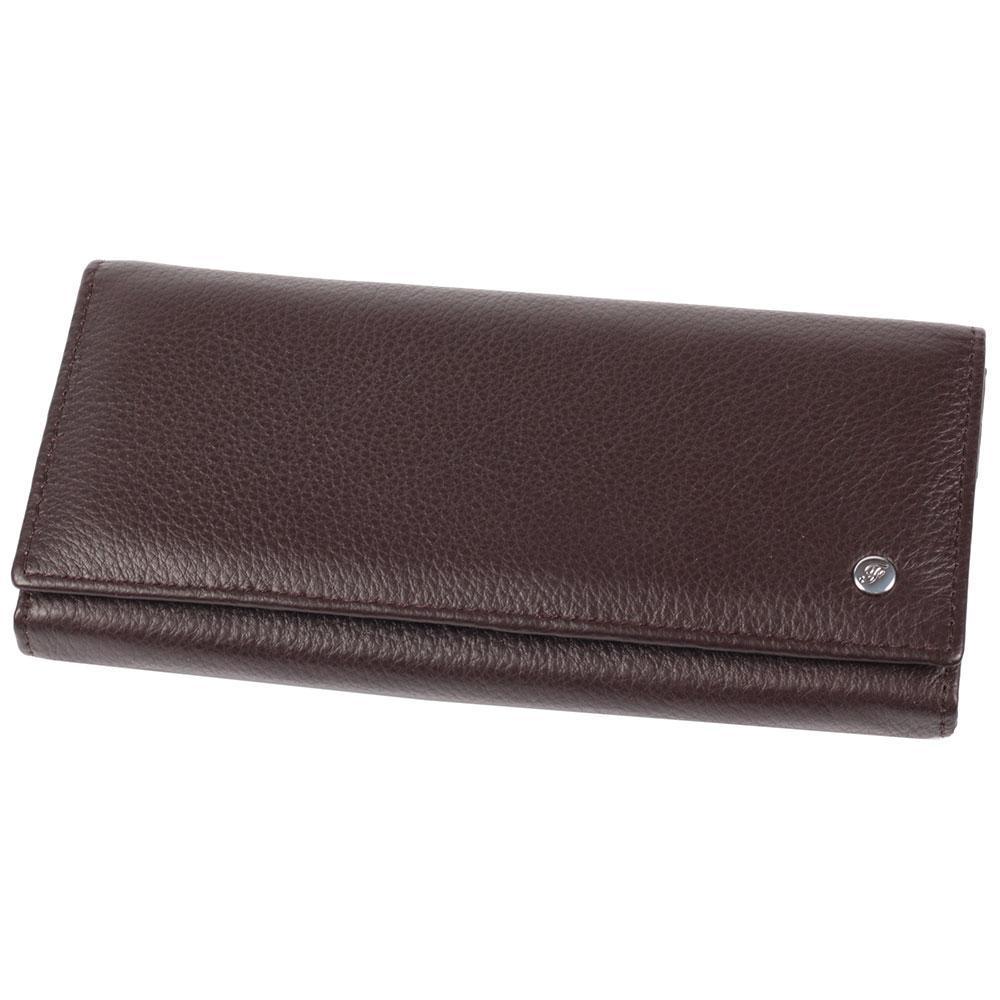 Кожаный женский кошелек коричневый AL-B150CF