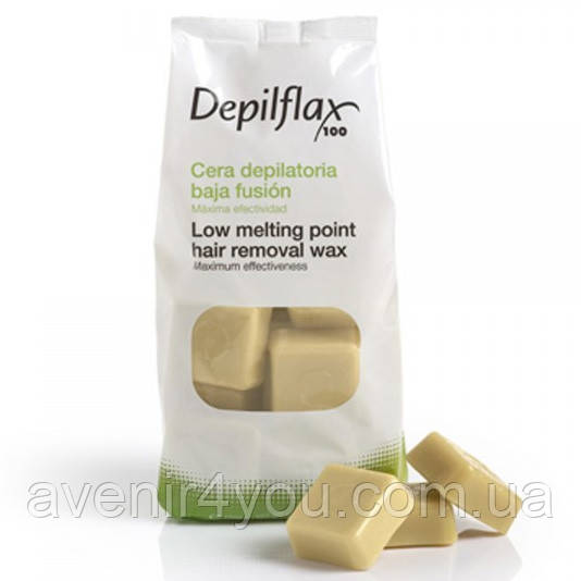Горячий воск для депиляции Depilflax 1кг Натуральный