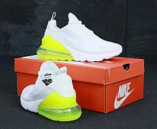 Женские кроссовки Nike Air Max 270 White/Yellow, фото 2