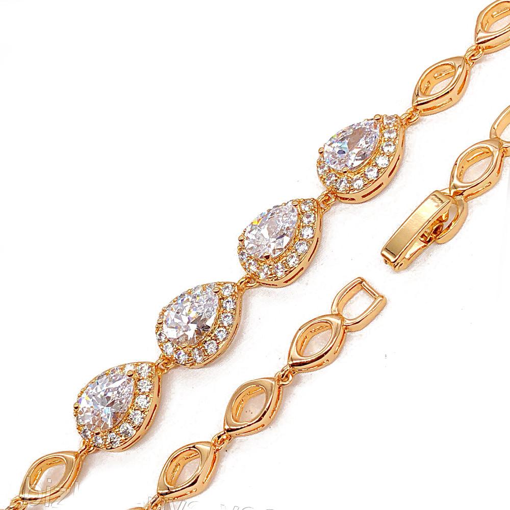 Браслет 5-9мм 17.5-19 см золото 18к xuping цирконий 2330