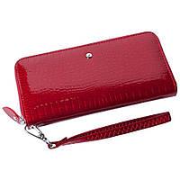 Женский кожаный кошелек лаковый F. Leather Collection AL-AE38-1 Red Красный, фото 1