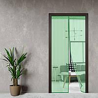 Антимоскитная сетка, шторка на дверь на магнитах 210*100 Premium