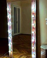 Зеркало в полный рост с подсветкой, состаренное красное ЛОФТ