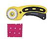Роторный нож для кожи, ткани. Нож для пэчворка, фото 3