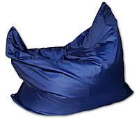 Синее кресло мешок подушка 120*140 см из ткани Оксфорд, кресло-мат, фото 1
