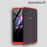 Чехол GKK 360 градусов для Huawei Honor 8X цвет Черно-Красный