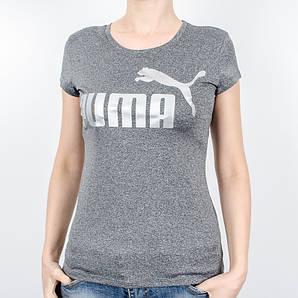 Женская спортивная футболка, Puma (Антрацит+серебро, мулине)