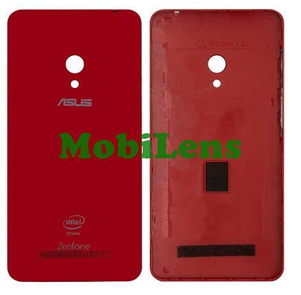 Asus A500CG, A501CG, A500KL, ZenFone 5, T00F, T00J Задняя крышка красная, фото 2