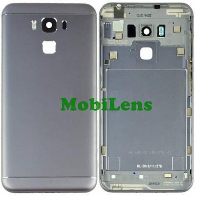 Asus ZC553KL, X00DD, Zenfone 3 Max Задняя крышка серебристая, фото 2