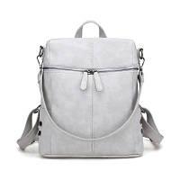Рюкзак-сумка женский серый