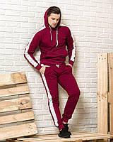 Спортивный костюм с лампасами красного цвета
