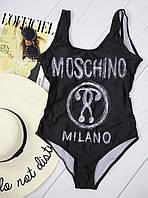Сдельный купальник Moschino Milano (реплика) в черным цветом