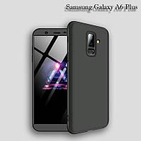 Чехол GKK 360 градусов для Samsung Galaxy A6 Plus цвет Черный