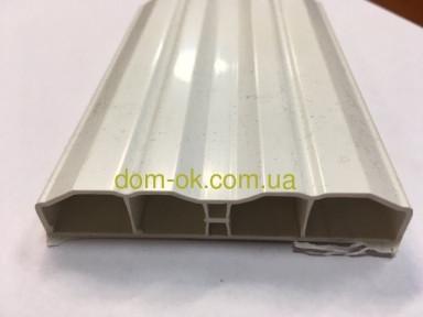Белый пластиковый штакетник, размером 80х15мм , цвет белый