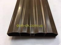 Пластиковые штакеты для забора и ограждений,  80х15мм цвет коричневый, фото 1