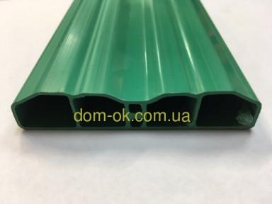 Штахетниу пластиковый для заборов и ограждений, размер 80х15мм , цвет зеленый Зеленый