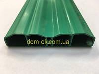 Штахетниу пластиковый для заборов и ограждений, размер 80х15мм , цвет зеленый Зеленый, фото 1