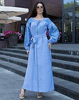 """Сукня вишита на льоні """"Чернігівщина"""" розмір, фото 1"""