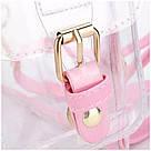 Прозрачный рюкзак в стиле grafea(графеа). Лазерный рюкзак с карманами розовый., фото 5