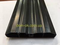 Штахетник из ПВХ, размер 80х15мм, цвет черный Черный, фото 1