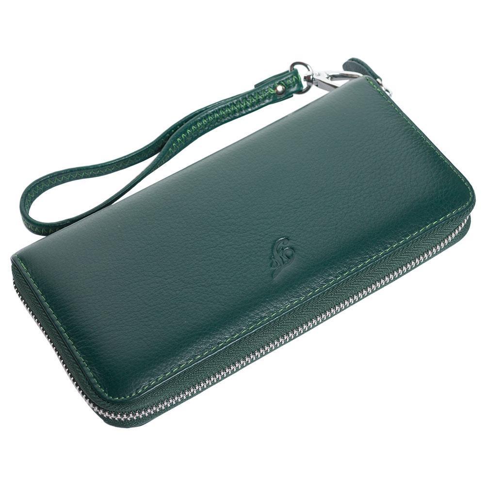 Женский кожаный кошелек F. Leather Collection AL-F38-1 Green зеленый