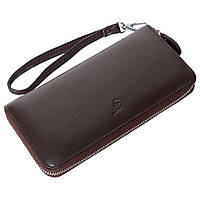 Женский кожаный кошелек F. Leather Collection AL-F38-1 Coffee коричневый, фото 1
