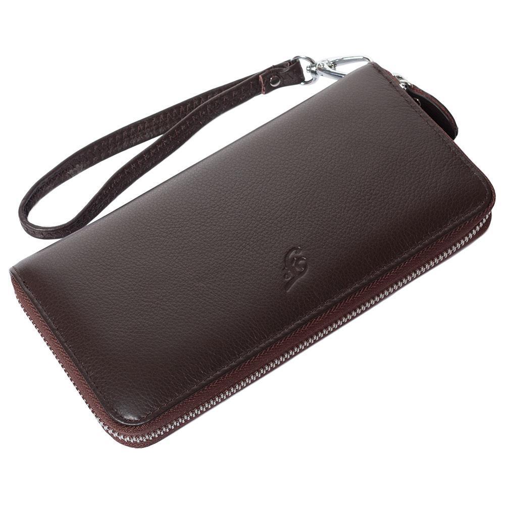 Женский кожаный кошелек F. Leather Collection AL-F38-1 Coffee коричневый
