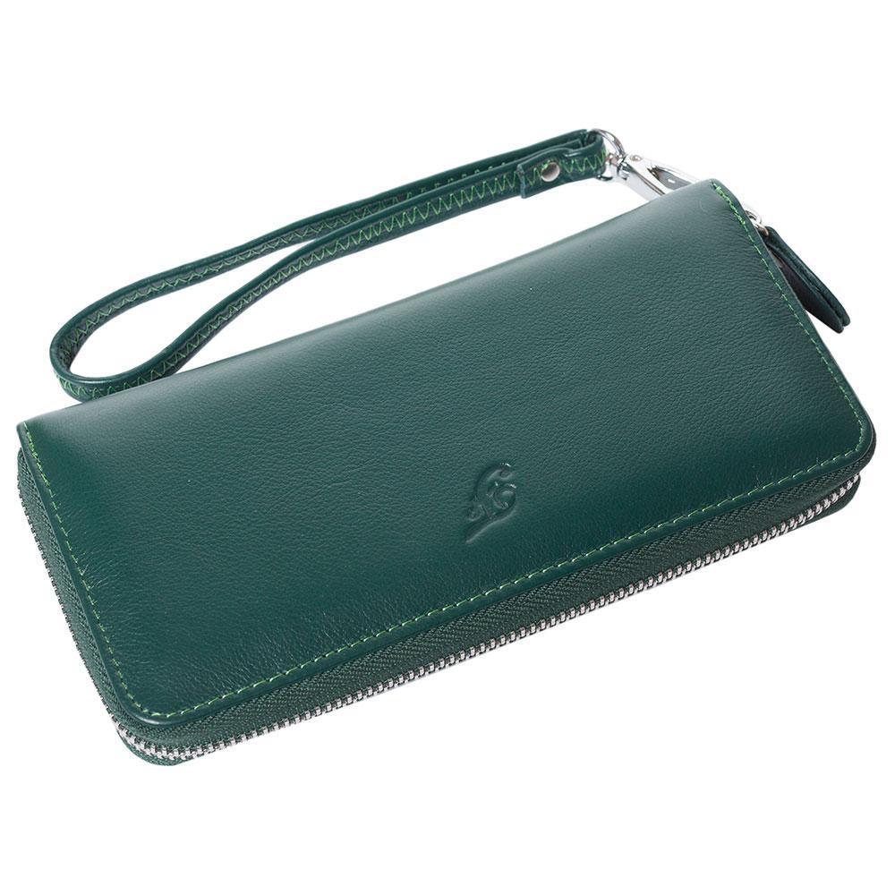 Женский кожаный кошелек F. Leather Collection AL-F38 Green зеленый