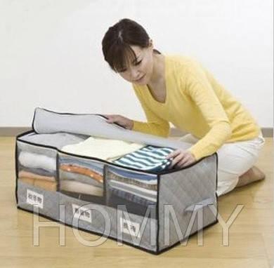 Органайзер для одежды бамбук, 70*35*30см, кофр для белья