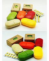 Контейнер для таблеток,  таблетница с делителем, холдер, PillBox, органайзер