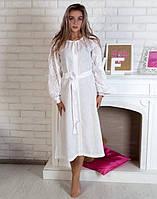 """Сукня біла вишита на льоні """"Чернігівщина"""" розміри в наявності, фото 1"""