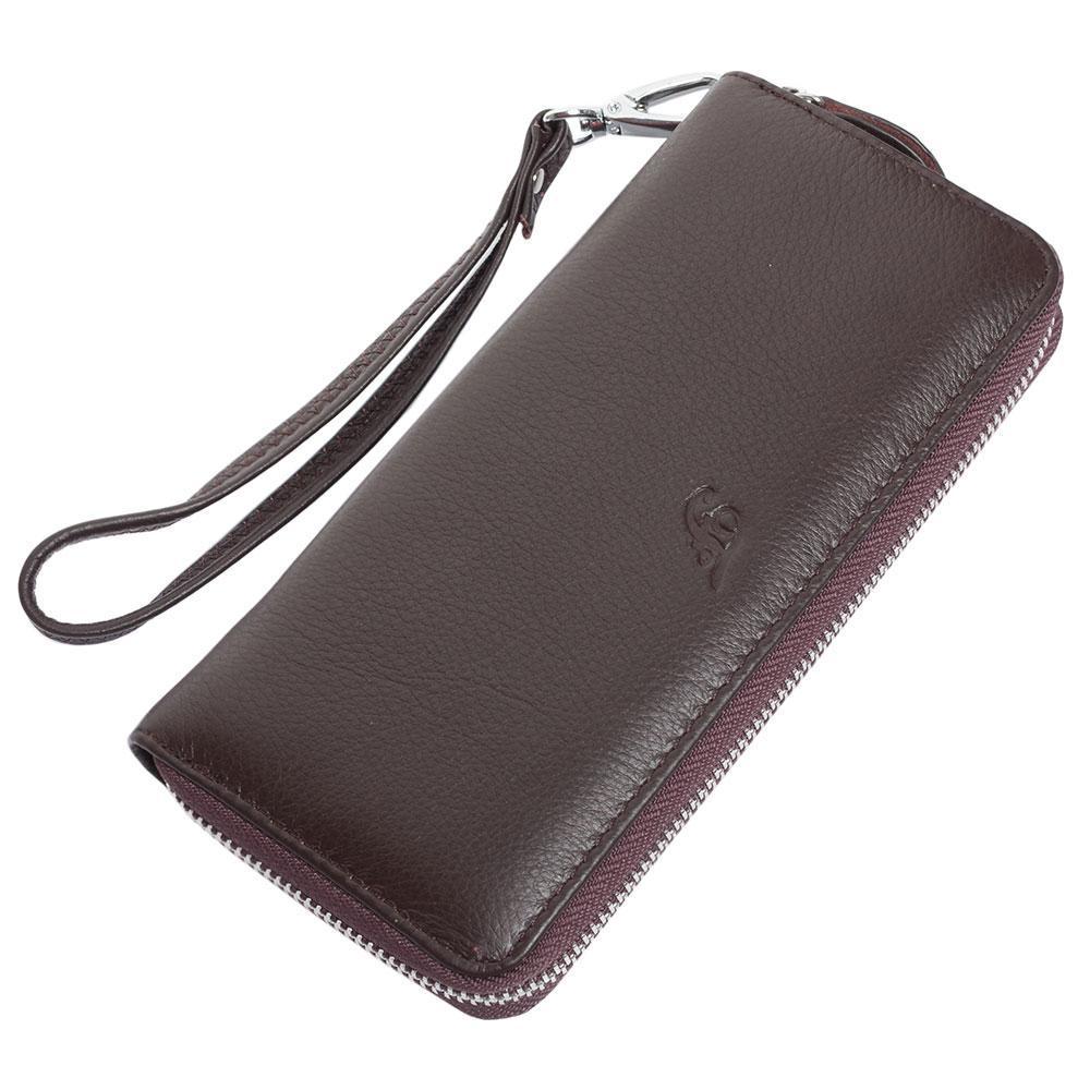 Женский кожаный кошелек F. Leather Collection AL-F38 Coffee коричневый