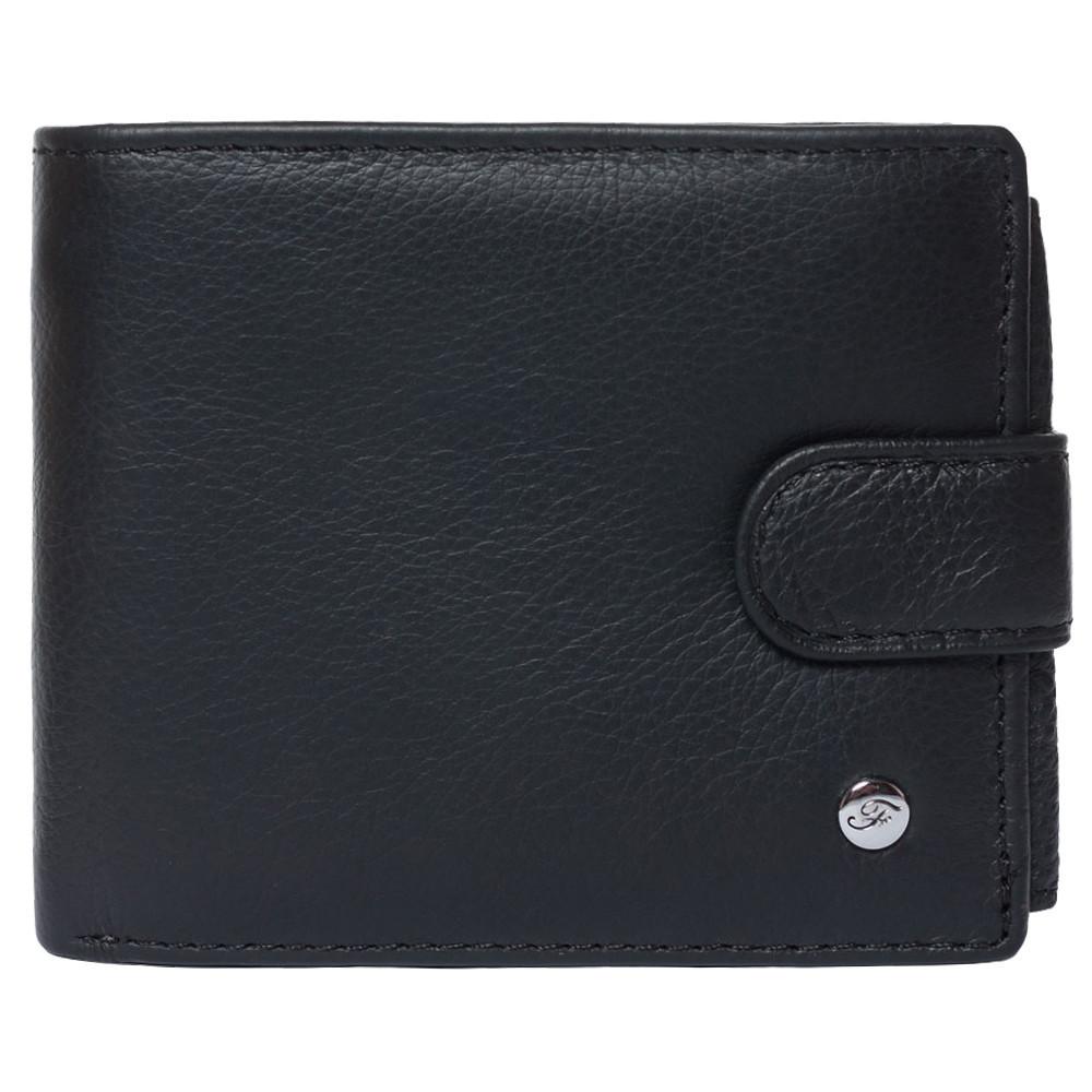 Портмоне мужское кожаное черное F. Leather Collection ALRT-F2 Black